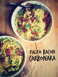 Paleo Bacon Carbonara Pasta